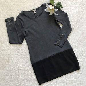 Banana Republic Vegan Leather Gray Shift Dress P48